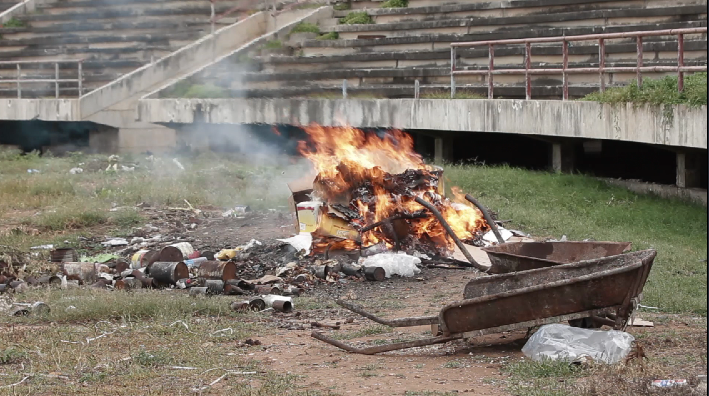 Mogadishu Stadium Trash Burn